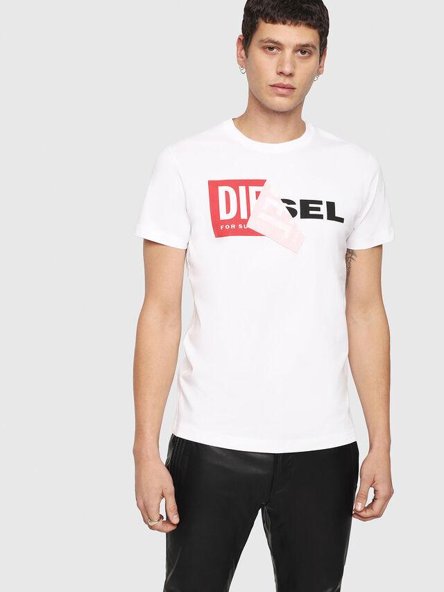 Diesel T-DIEGO-QA, Blanc - T-Shirts - Image 1