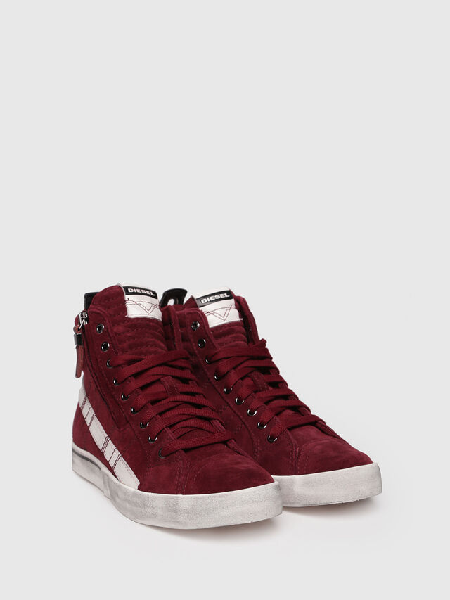 Diesel - D-VELOWS MID LACE, Rouge - Baskets - Image 3
