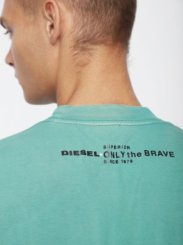 Diesel T-JOEY-T, Vert d'Eau - T-Shirts - Image 3