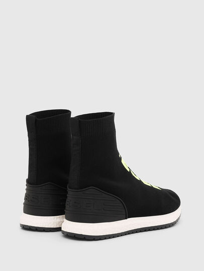 Diesel - SLIP ON 04 MID SOCK, Noir - Footwear - Image 3