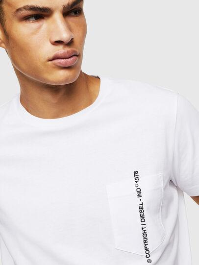 Diesel - T-RUBIN-POCKET-J1, Blanc - T-Shirts - Image 3