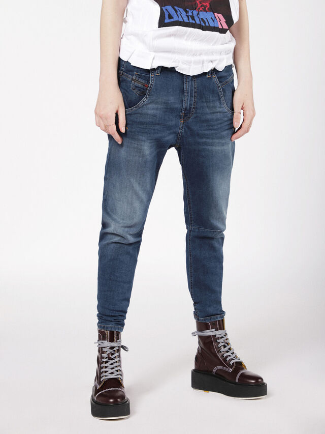 Diesel - Fayza JoggJeans 0699Y, Bleu moyen - Jeans - Image 1