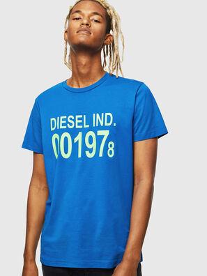 T-DIEGO-001978, Bleu Brillant - T-Shirts
