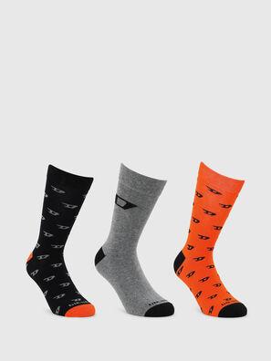 SKM-RAY-THREEPACK, Noir/Orange - Chaussettes