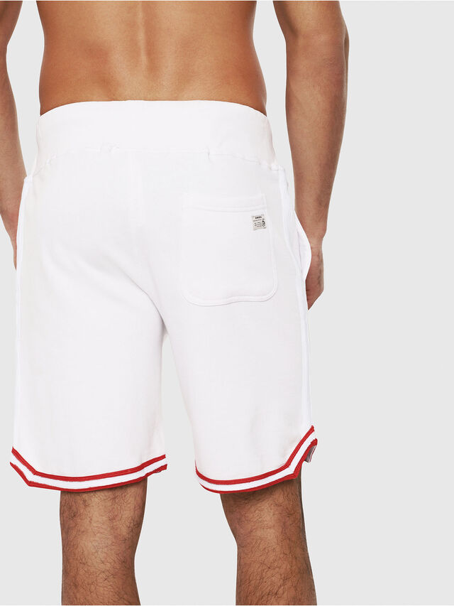 Diesel - UMLB-PAN, Blanc/Rouge - Pantalons - Image 2