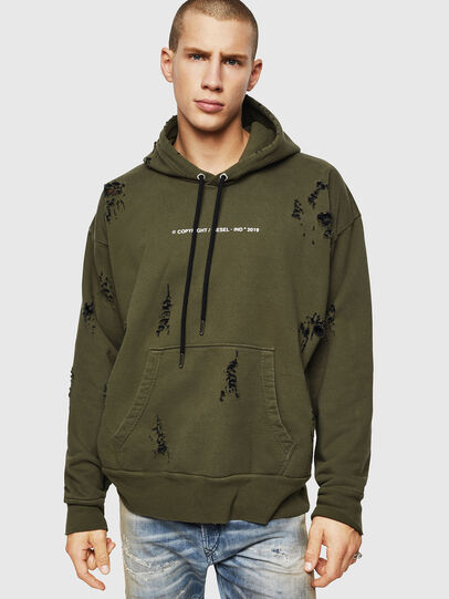 Diesel - S-ALBY-RIP, Vert Militaire - Pull Cotton - Image 1