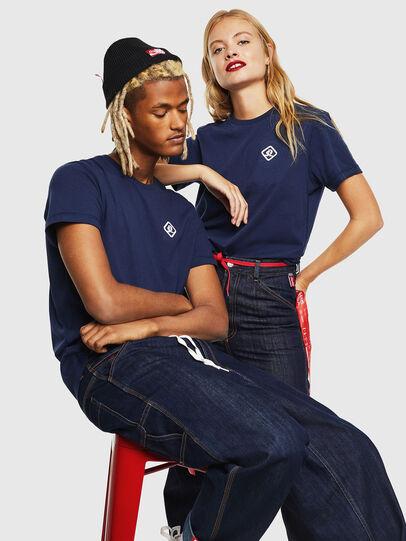 Diesel - CC-T-DIEGO-COLA, Bleu Foncé - T-Shirts - Image 7