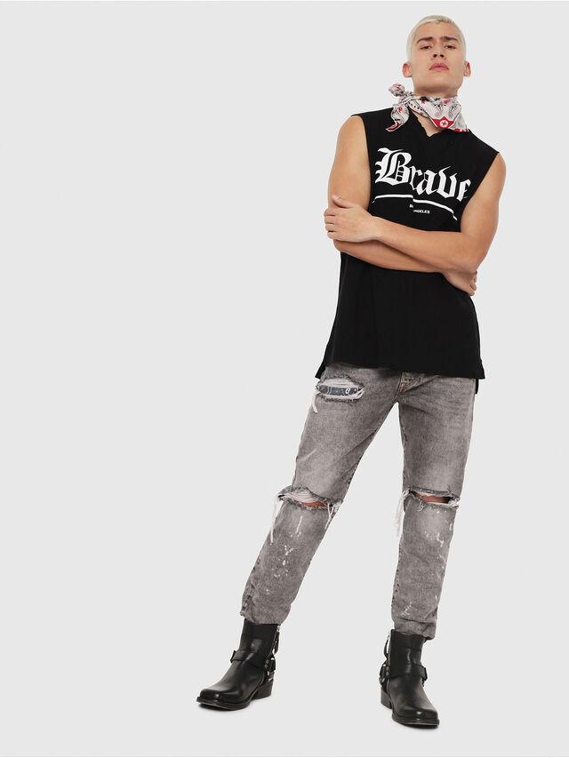 Diesel - T-YOSHIMI-SL-Y1, Noir - T-Shirts - Image 4