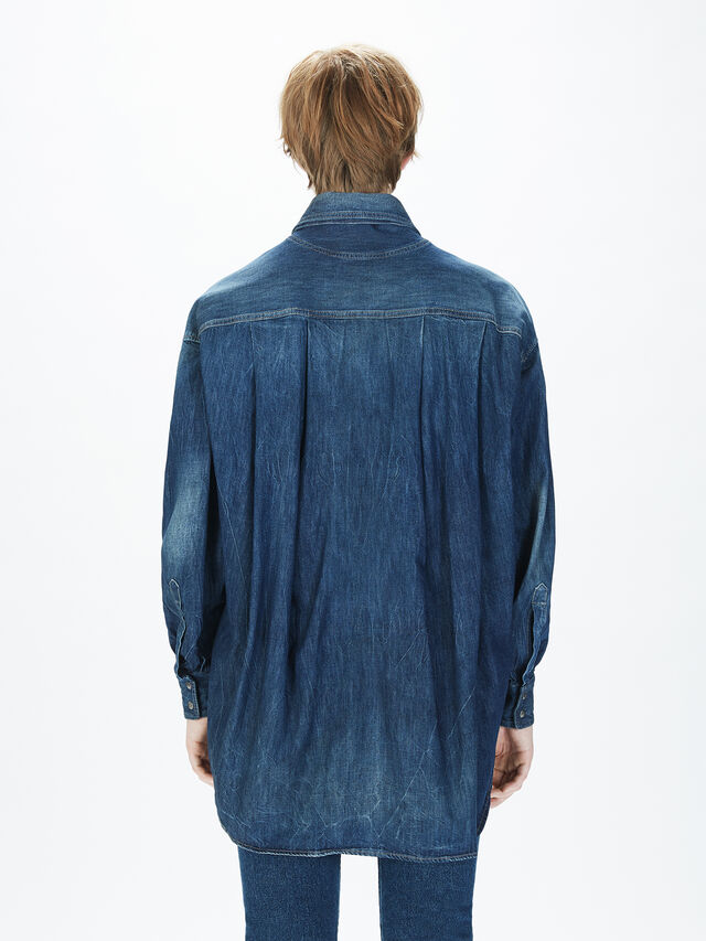 Diesel - SOTS01, Jean Bleu - Chemises - Image 6