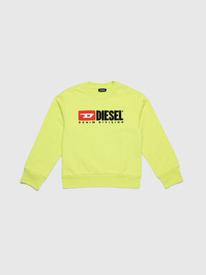 SCREWDIVISION OVER, Jaune Fluo - Pull Cotton