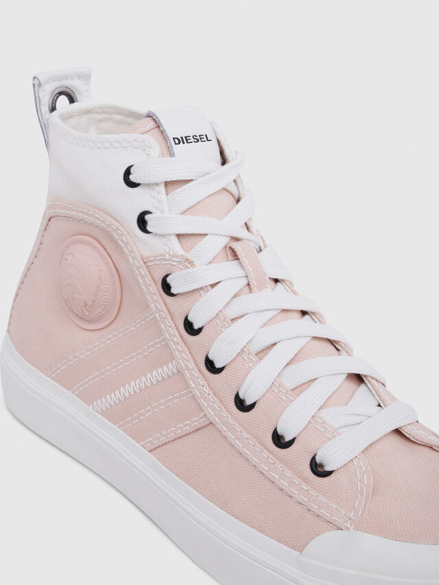 Diesel - S-ASTICO MID LACE W, Rose/Blanc - Baskets - Image 4