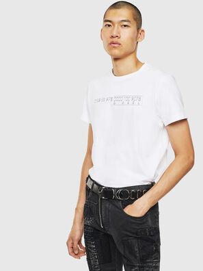 T-DIEGO-SLITS-J6, Blanc - T-Shirts