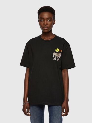 T-shirt avec graphismes emoji