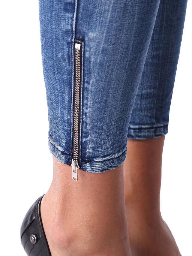Diesel - Skinzee Low Zip 0847U, Bleu moyen - Jeans - Image 6