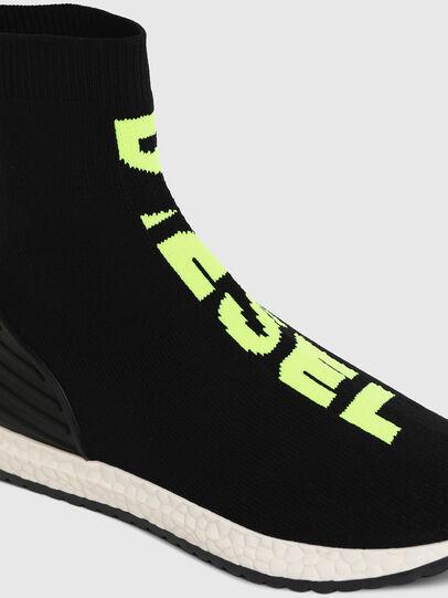 Diesel - SLIP ON 04 MID SOCK, Noir - Footwear - Image 4