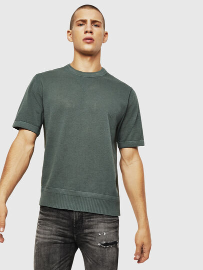 Diesel - K-LORE, Vert Olive - Pull Maille - Image 1