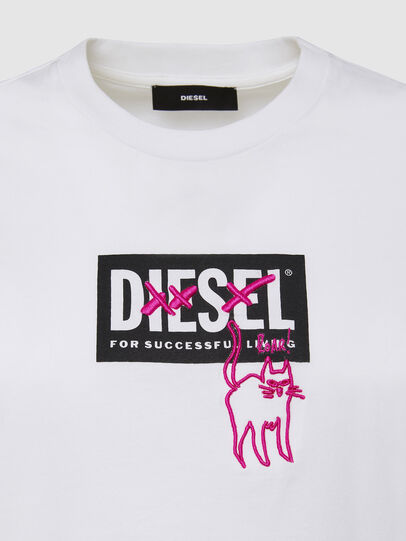 Diesel - T-SILY-E52, Blanc - T-Shirts - Image 3