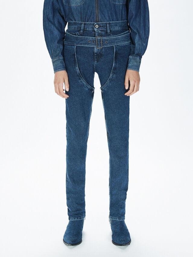 Diesel - SOCSJ01, Bleu Foncé - Pantalons - Image 3