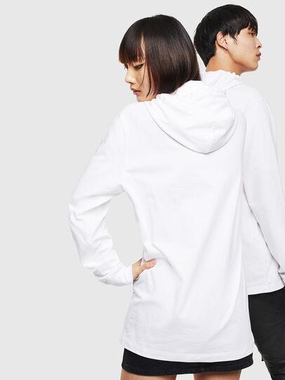Diesel - CL-T-JUST-LS-HOOD, Blanc - T-Shirts - Image 3