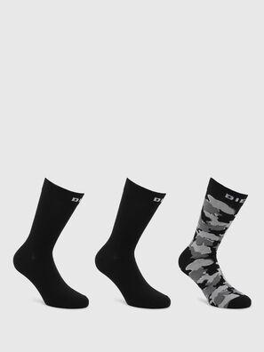 SKM-RAY-THREEPACK, Noir/Gris - Chaussettes