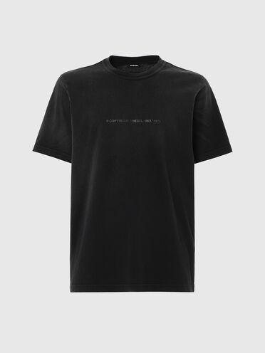 T-shirt avec traitement décolorant