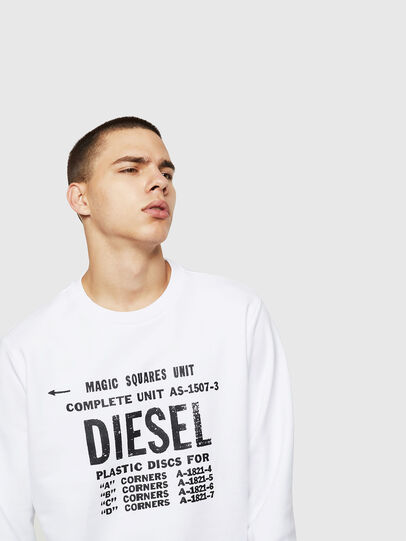 Diesel - S-GIR-B5, Blanc - Pull Cotton - Image 3
