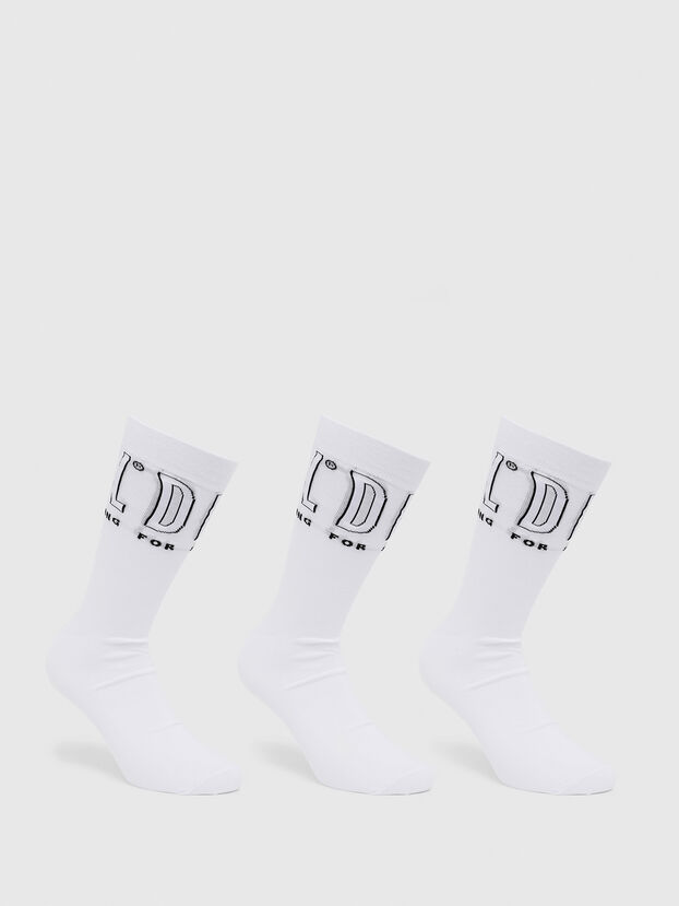 SKM-HERMINE-THREEPAC, Blanc - Chaussettes