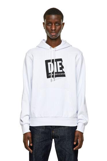 Sweat-shirt à capuche à étiquette en jacquard repliée