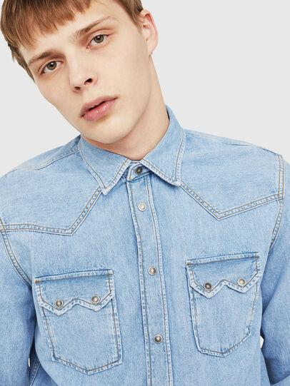 Diesel - D-LEO, Jean Bleu - Chemises en Denim - Image 4