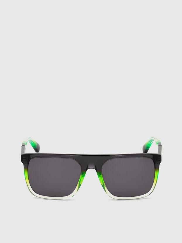 DL0299, Noir/Vert - Lunettes de soleil
