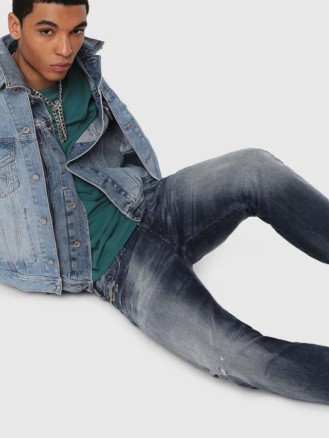 Diesel - D-Bazer 084DD, Bleu Foncé - Jeans - Image 4