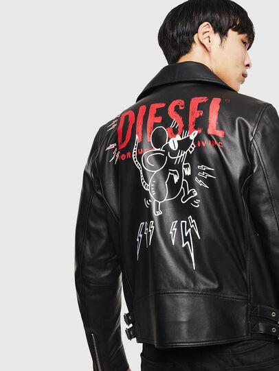 Diesel - CL-L-GOTIV-LITM, Noir - Vestes de cuir - Image 2