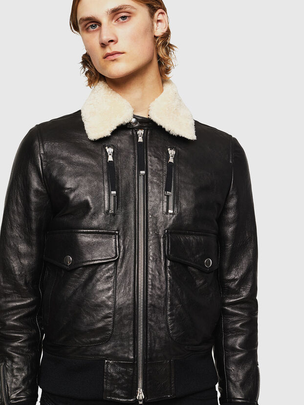 L-VINT, Noir - Vestes de cuir