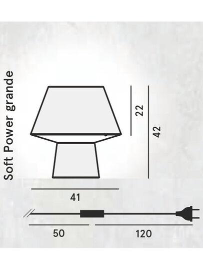 Diesel - SOFT POWER GRANDE, Noir - Éclairages De Table - Image 2