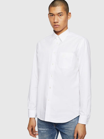 Diesel - S-MOI-R-BW, Blanc - Chemises - Image 1
