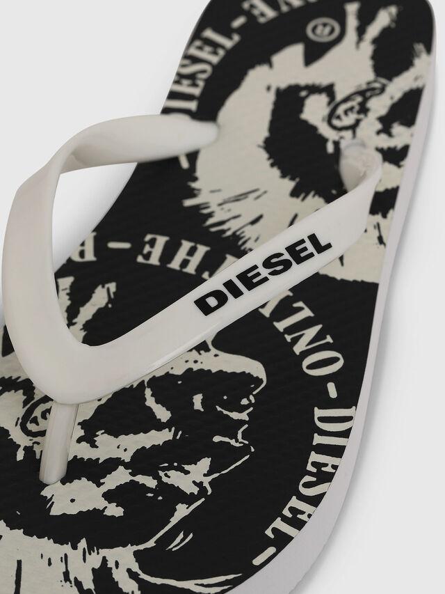 Diesel - FF 22 FLIPPER YO, Blanc/Noir - Footwear - Image 3