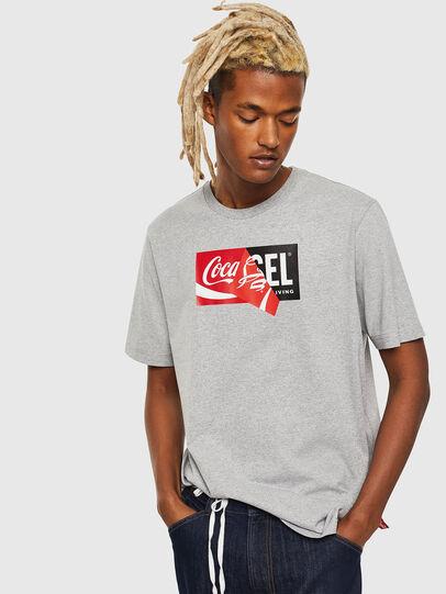 Diesel - CC-T-JUST-COLA, Gris - T-Shirts - Image 1