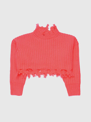 KJKIX, Rose Corail - Pull Maille