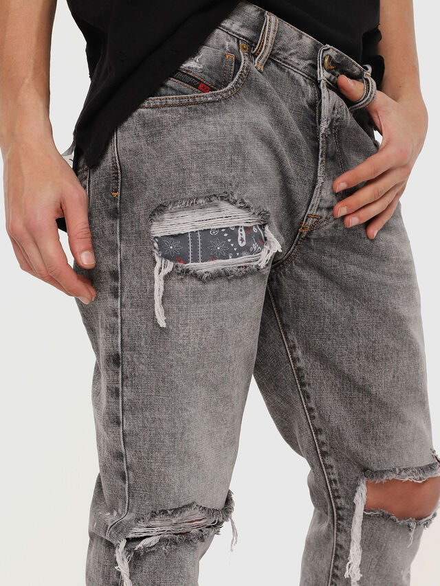 Diesel - Mharky 089AT, Gris Clair - Jeans - Image 4