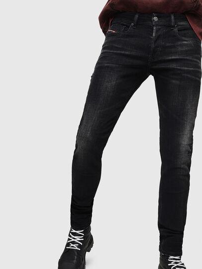 Diesel - Sleenker 0092B, Noir/Gris foncé - Jeans - Image 1