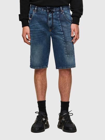 Diesel - D-KROOSHORT-Y-GO JOGGJEANS, Bleu Foncé - Shorts - Image 1