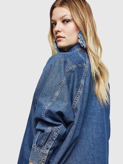 Diesel - DE-NOVA, Bleu moyen - Chemises en Denim - Image 5