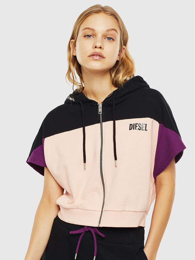UFLT-PHYLOSH-HOOD, Noir/Rose - Pull Cotton