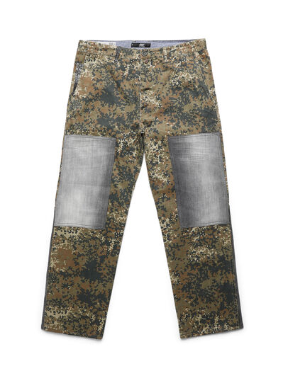 Diesel - D-ONT-HURT-ME, Vert Camouflage - Pantalons - Image 1