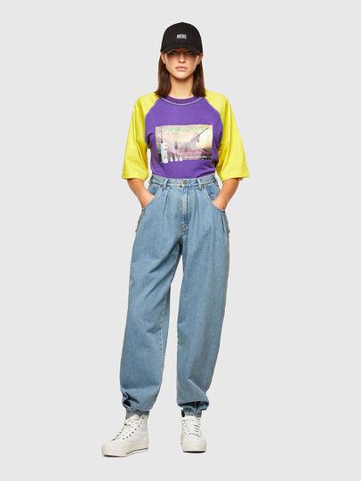Diesel - T-SPO, Violet/Jaune - T-Shirts - Image 4