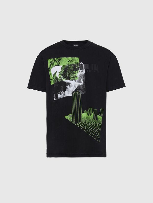 T-JUBIND-SLITS, Noir - T-Shirts