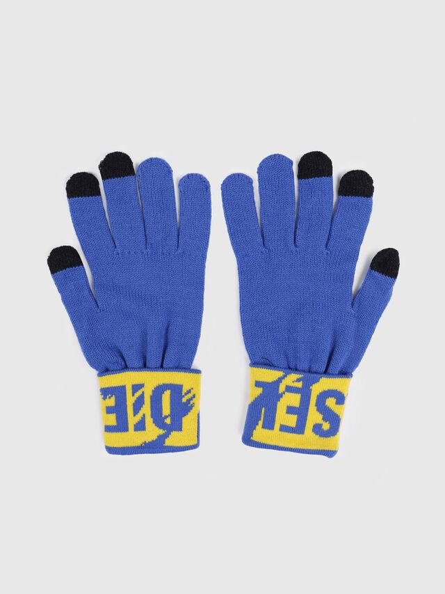 Diesel - K-SCREEX, Bleu/Jaune - Bérets, chapeaux et gants - Image 2