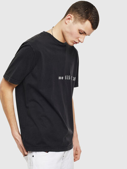 Diesel - T-JUST-T12, Noir - T-Shirts - Image 4