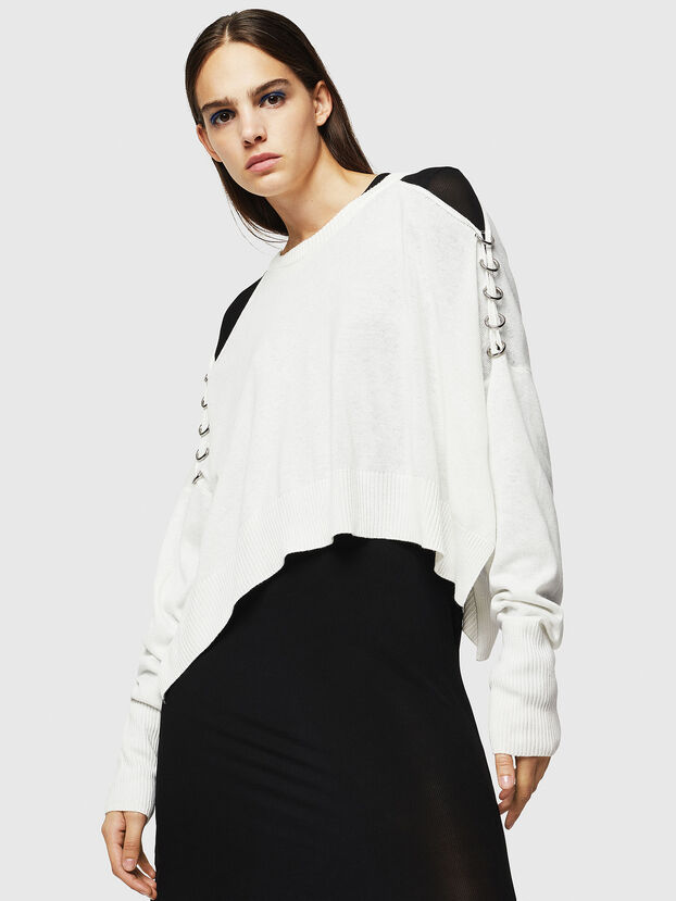 M-NETTY, Blanc - Pull Maille