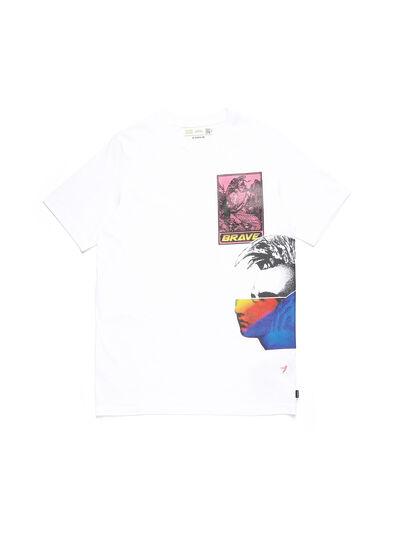 Diesel - D-5055-W, Blanc - T-Shirts - Image 1